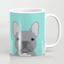 French Bulldog cute grey puppy funny bulldog pet gift for dog person loved one valentines day dogs Coffee Mug