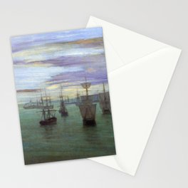 Crepuscule In Flesh Color And Green Valparaiso By James Mcneill Whistler | Reproduction Stationery Cards
