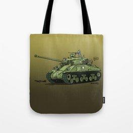 Dogs of War: Sherman Tank Tote Bag