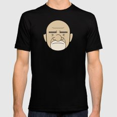 Faces of Breaking Bad: Mike Ehrmantraut Mens Fitted Tee Black LARGE