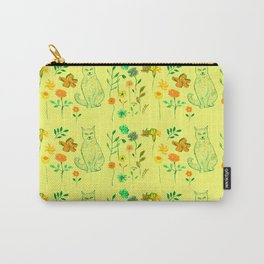 Cat in the garden - Pattern Carry-All Pouch