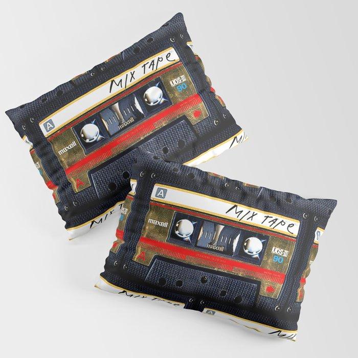 Retro classic vintage gold mix cassette tape Kissenbezug