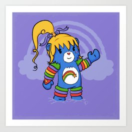 Rainbow Bearite Art Print