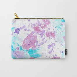 Pink and Blue Metallic Modern Abstract Carry-All Pouch
