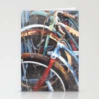 bicycles Stationery Cards featuring  BICYCLES by Encaustic Images