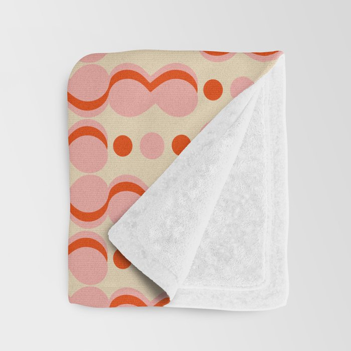 Uende Love - Geometric and bold retro shapes Throw Blanket