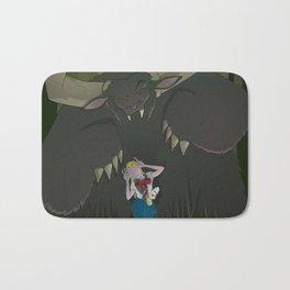 Monster girl in Horrorcolor Bath Mat