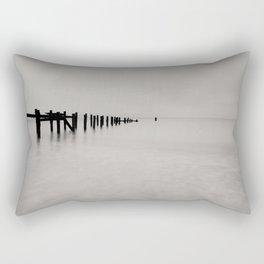 black and white untitled ocean Rectangular Pillow