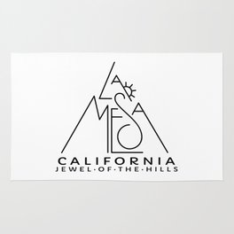 La Mesa California With Sun Rug