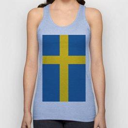 Flag of Sweden Unisex Tank Top