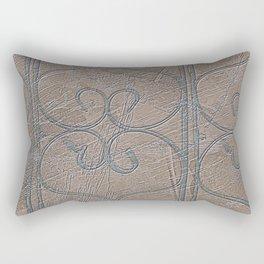 Blue Grey S Curve Curls Terracotta Wall Rectangular Pillow