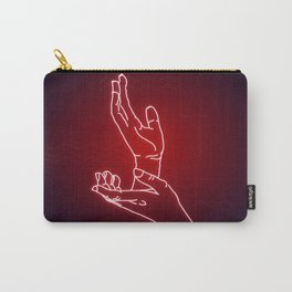 Red Neon Meanwhile Carry-All Pouch