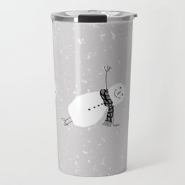 Snowman Yoga - Side Planck Travel Mug
