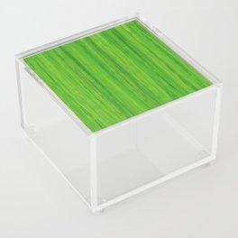Green Melon Colored Vertical Stripes Acrylic Box