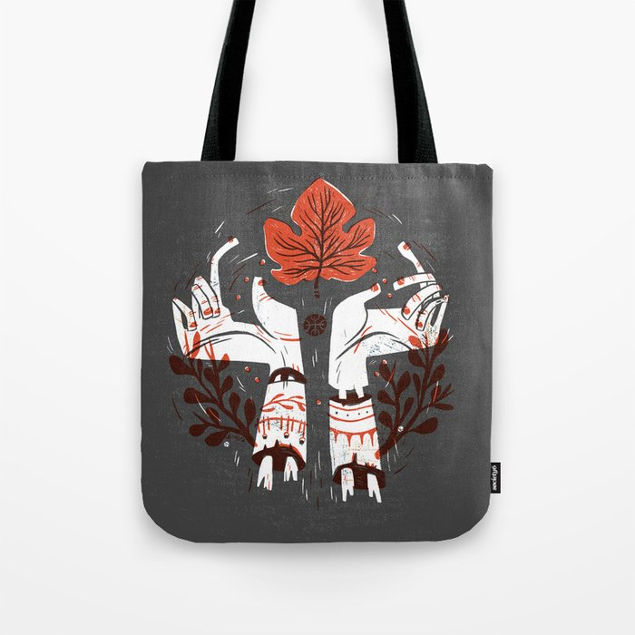 Symbol Hands Tote Bag
