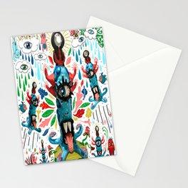 blue monster mayhem Stationery Cards