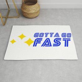Gotta Go Fast Sonic Video Game Retro Gaming Rug