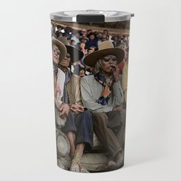 the rodeo at Crow fair in Montana Travel Mug