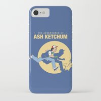 tintin iPhone & iPod Cases featuring THE ADVENTURES OF ASH KETCHUM by Akiwa