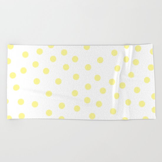 Simply Dots in Pastel Yellow Beach Towel