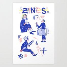 Zine Gurls Art Print