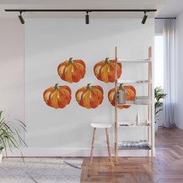 Watercolor Pumpkins Wall Mural