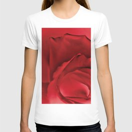 Red Rose Abstract T-shirt