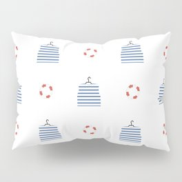 pattern on the marine theme, vest and lifebuoy Pillow Sham