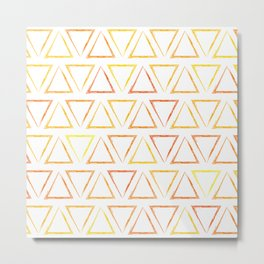 Triangular Peaks Pattern - Sunshine #913 Metal Print