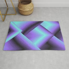 purple and blue mountains Rug