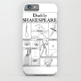 Death by Shakespeare iPhone Case