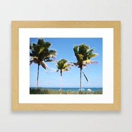 Coconut Trees on Fort Lauderdale Beach Framed Art Print
