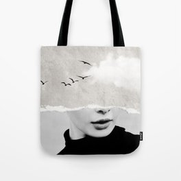 minimal collage /silence Tote Bag