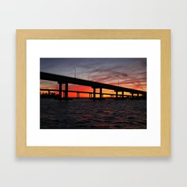 An Evening on the Caloosahatchee II Framed Art Print
