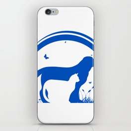 Dog and Cat and nature Silhouette iPhone Skin
