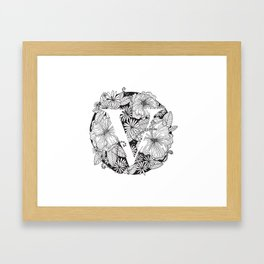 Flower V Framed Art Print