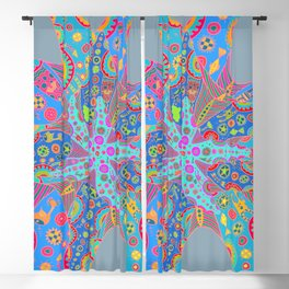Psychedelic Starfish Blackout Curtain
