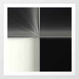 Modern Black White Block Zoom Design Art Print