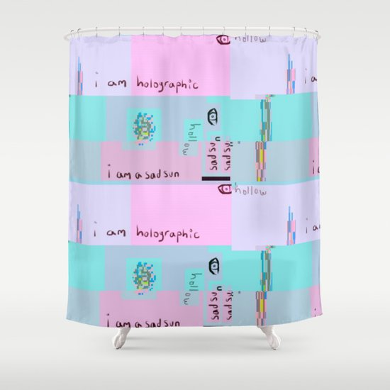 I Am Holographic Shower Curtain By Leafsea