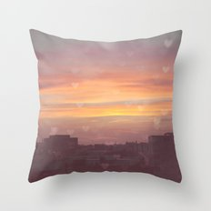 Sunset in the City Throw Pillow