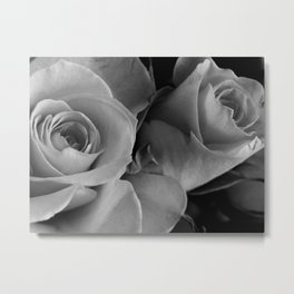 Roses Black & White #4 Metal Print