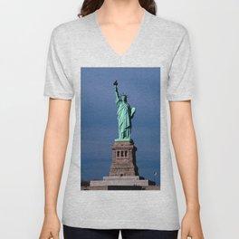 Statue Of Liberty Shines Her Spirit Unisex V-Neck