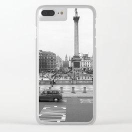 Trafalgar Square, London England Clear iPhone Case