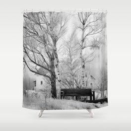 Pt. Iroquois Winter Shower Curtain