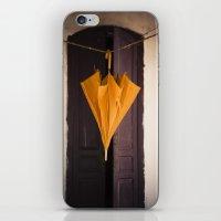 umbrella iPhone & iPod Skins featuring Umbrella by Maria Heyens
