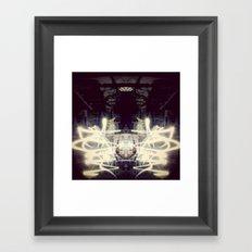 Lights & Mirrors Framed Art Print