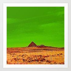 Orange Pyramid in Nevada? Art Print