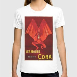 Vintage 1920's Vermouth Torino Cora Alcoholic Beverage Advertisement by Leonetto Cappiello T-shirt