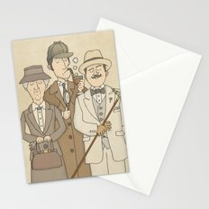 The Detectives - Miss Marple, Sherlock Holmes, Hercule Poirot Stationery Cards