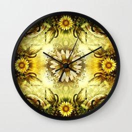"""Victorian Garden Spring Flowers"" Wall Clock"